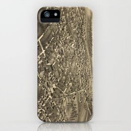 Vintage Pictorial Map of Amherst MA (1886) iPhone Case