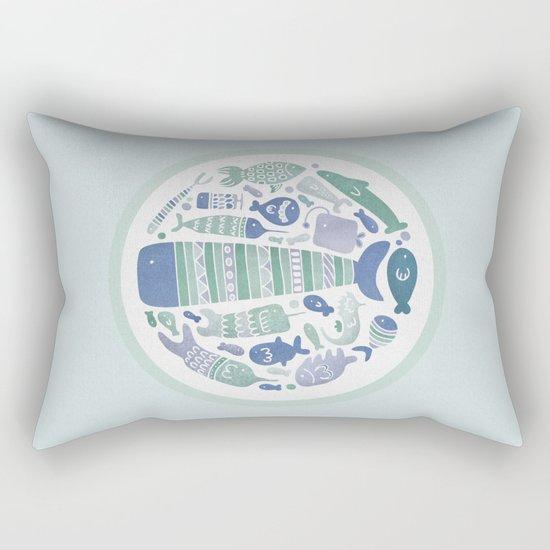 Little Fishes Rectangular Pillow
