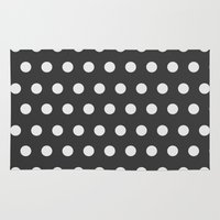 dots Area & Throw Rugs featuring Dots by NobuDesign