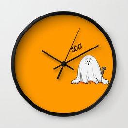 Ghost cat BOO! Wall Clock