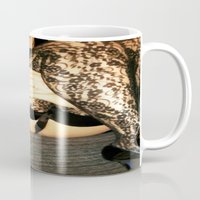bdsm Mugs featuring funny painting Sex Fuck transgender gay crossdress BDSM fetish sissy submissive owned fetish panty by Velveteen Rodent
