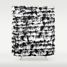 Black Pattern#2 Shower Curtain