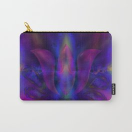 Born of Lotus Abstract Art Carry-All Pouch