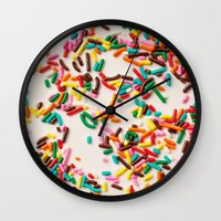 sprinkles Wall Clocks featuring Sprinkles  by Laura Ruth