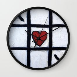 Real Love - How To Win at Tic-Tac-Toe by Scott Richard Wall Clock