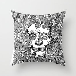Mr Skelly Throw Pillow
