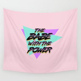 Babe With The Power - Black! Wall Tapestry
