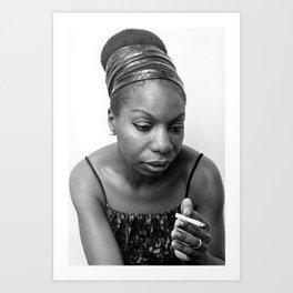 Nina Simone Art Print - Black Culture - Black History Art Print