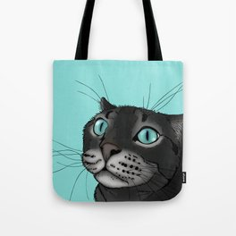 Lenny the Blue Eyed Cat Tote Bag