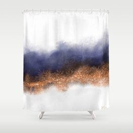 Copper Mood Shower Curtain
