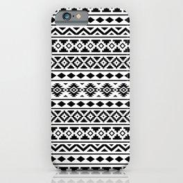 Aztec Essence Pattern II Black on White iPhone Case