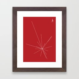 Voyager Golden Record Fig. 3 (Red) Framed Art Print