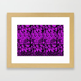 Purple Geometric Framed Art Print