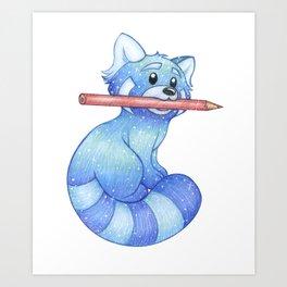 Muse, The Blue Panda Art Print