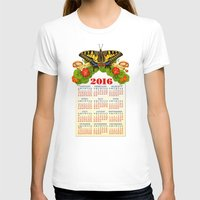 calendar T-shirts featuring 2016 Decorative Calendar by Patricia Shea Designs