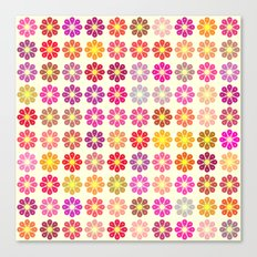 Multicolored floral pattern Canvas Print