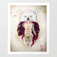 mononoke Art Prints featuring Mononoke by Electricalivia