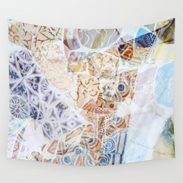 Mosaic of Barcelona IX Wall Tapestry
