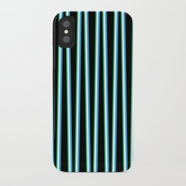 Between the Trees Black, Blue & Green #312 iPhone Case