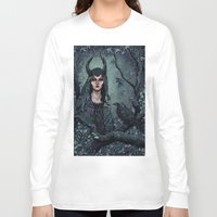 maleficent Long Sleeve T-shirts featuring Maleficent by Angela Rizza