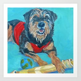 Rescue Mutt Dog Portrait Art Print