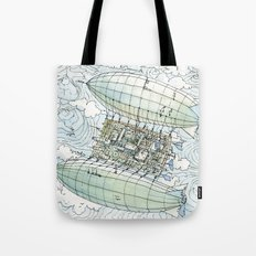 Flying over the montains Tote Bag