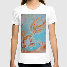 GoldFish Bubbles 1sw watercolor by CheyAnne Sexton T-shirt