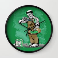 hulk Wall Clocks featuring Hulk by RebeccaMiller