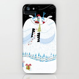 George, the Christmas Yeti  iPhone Case