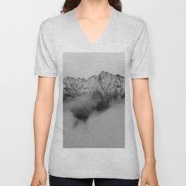 Mountains (Black and White) Unisex V-Neck