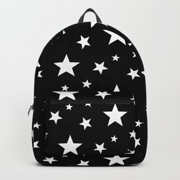 Stars pattern black and white Backpack