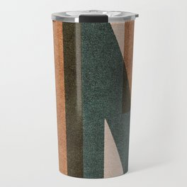ABSTRACT ALPHABET / Decorative K Travel Mug
