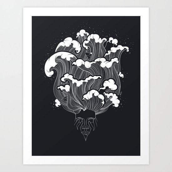 Storming Mind Art Print