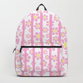 Striped Daisies - pink - more colors Backpack