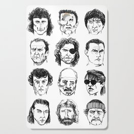 80s Action Stars Cutting Board