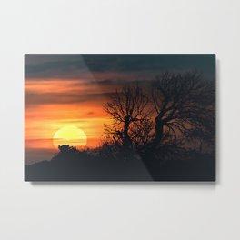 Sunset at Nature Landscape Scene Metal Print