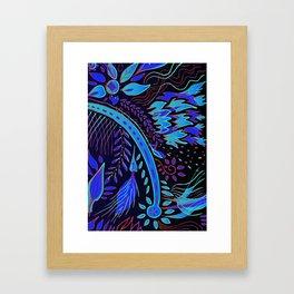 indigo fire Framed Art Print