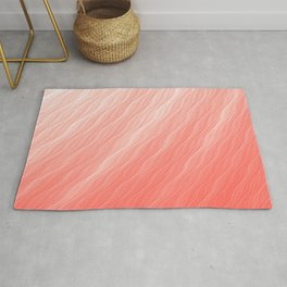Living Coral Wavy Ombre Pattern Rug
