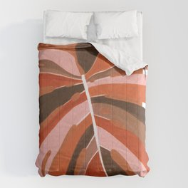 Abstract Monstera Comforters