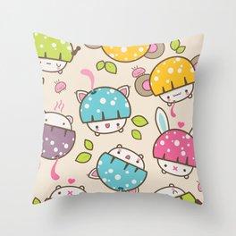 mushis Throw Pillow