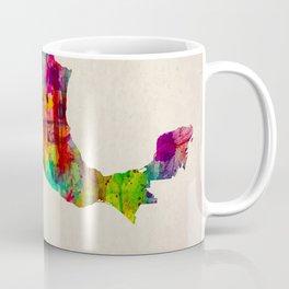 Mexico Map in Watercolor Coffee Mug