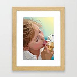 Licking Sprinkles  Framed Art Print