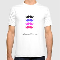 Awesome curlicues Mens Fitted Tee White MEDIUM