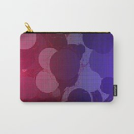 Hazy Grid Carry-All Pouch