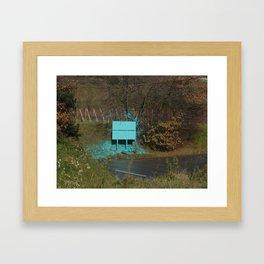 green piss Framed Art Print