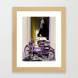 Lavender Bicycle Framed Art Print