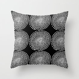 DOTTED SPIRALS Throw Pillow