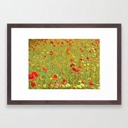 wild flower garden Framed Art Print