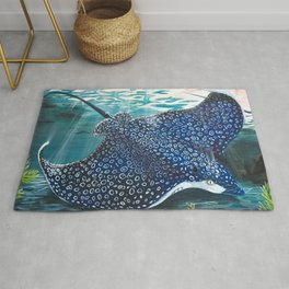 spotted eagle ray Rug