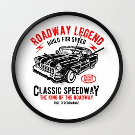 Roadway Legend Build For Speed Wall Clock